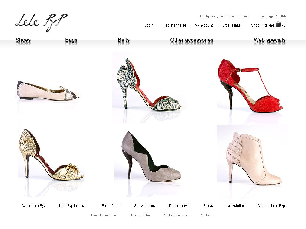 Lele Pyp Online-Shop - loja virtual Magento