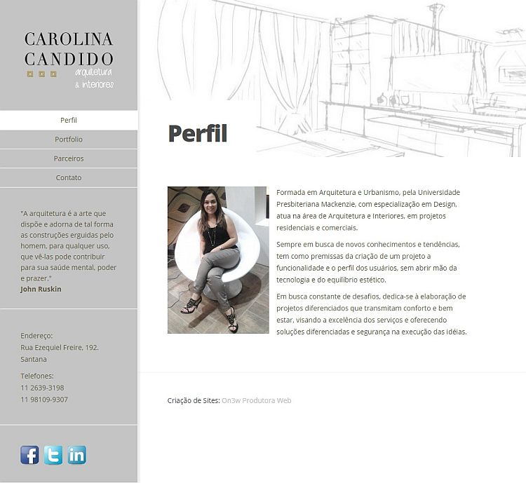 agencia site wordpress SP - Carolina Candido