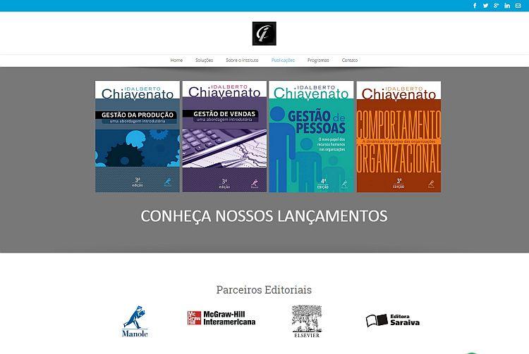 Instituto Chiavenato - site em wordpress - agencia web SP