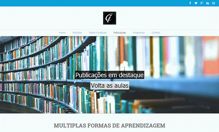 agencia web - site em wordpress